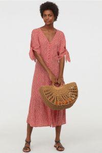 H&M Floral Crepe Midi Dress