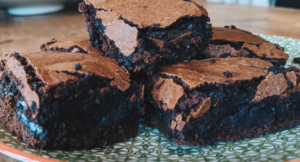 dairy free oreo stuffed brownies